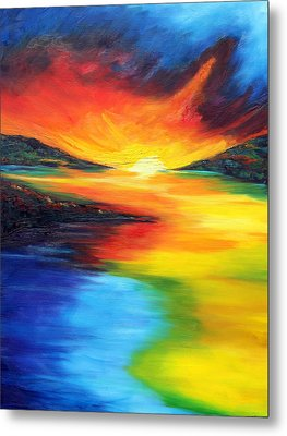 Metal Print featuring the painting Waters Of Home by Meaghan Troup