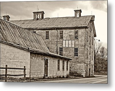 Waterside Woolen Mill Metal Print by Steve Harrington