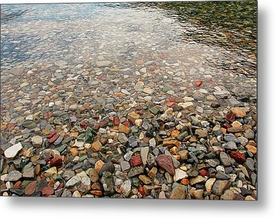 Metal Print featuring the photograph Waterton Lakes Shore by Trever Miller