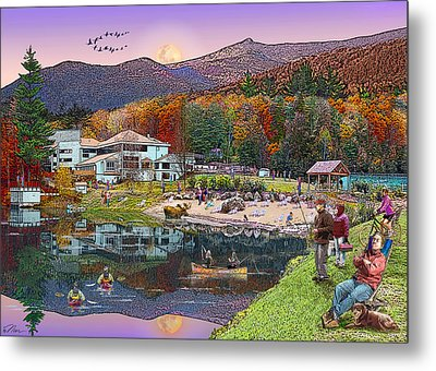 Waterville Estates In Autumn Metal Print