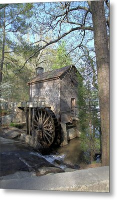 Metal Print featuring the photograph Waterwheel At Stone Mountain by Gordon Elwell