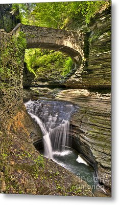 Watkins Glen Waterfalls Metal Print