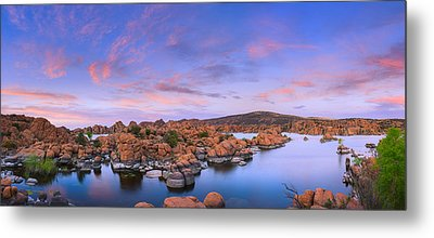 Watson Lake In Prescott - Arizona Metal Print by Henk Meijer Photography