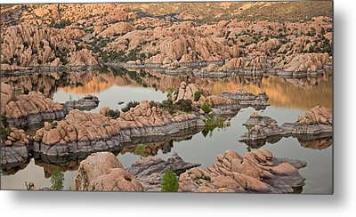 Watson Lake Sunset Metal Print