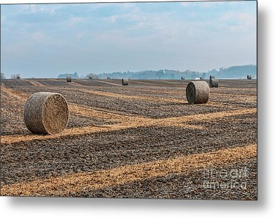 Metal Print featuring the photograph Waupaca Straw Rolls by Trey Foerster