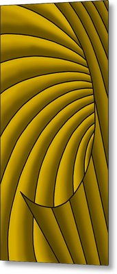 Metal Print featuring the digital art Wave - Golds by Judi Quelland