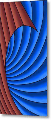 Metal Print featuring the digital art Wave - Red And Blue by Judi Quelland
