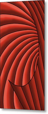 Metal Print featuring the digital art Wave - Reds by Judi Quelland