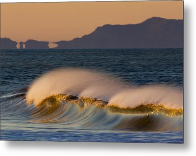 Metal Print featuring the photograph Wave And Island 73a5281 by David Orias