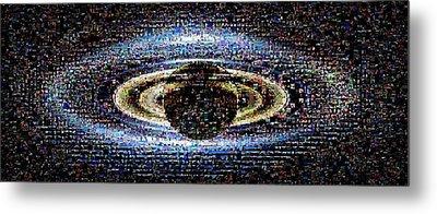 'wave At Saturn' Mosaic Metal Print by Nasa/jpl-caltech/ssi