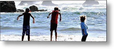 Wave Jumpers 25615 Metal Print by Jerry Sodorff