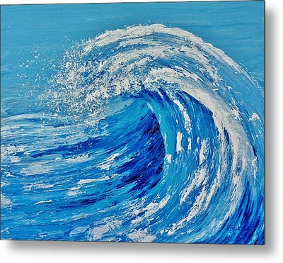 Metal Print featuring the painting Wave by Katherine Young-Beck