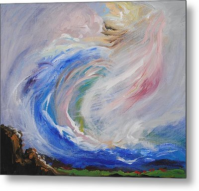 Wave Of Healing Metal Print by Patricia Kimsey Bollinger