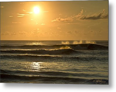 Metal Print featuring the photograph Waves Of Life by Skip Tribby