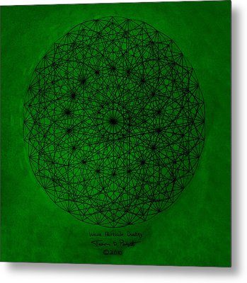 Wave Particle Duality Metal Print