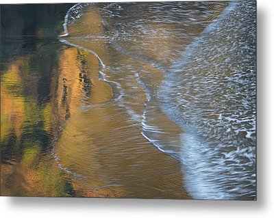 Wave Reflections 4 Metal Print by Leland D Howard