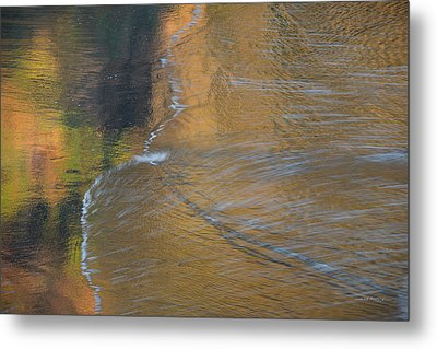 Wave Reflections 5 Metal Print by Leland D Howard