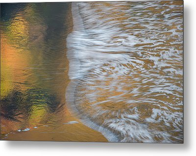 Wave Reflections 6 Metal Print by Leland D Howard