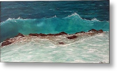 Wave Metal Print by Svetla Dimitrova