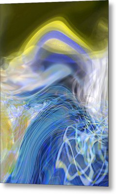 Metal Print featuring the digital art Wave Theory by Richard Thomas