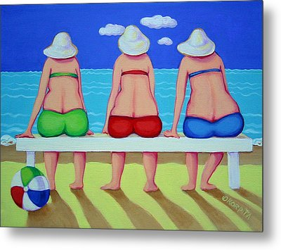 Wave Watch - Beach Metal Print by Rebecca Korpita