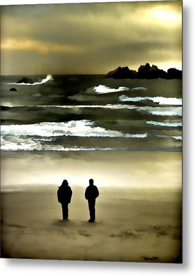 Wave Watchers Metal Print