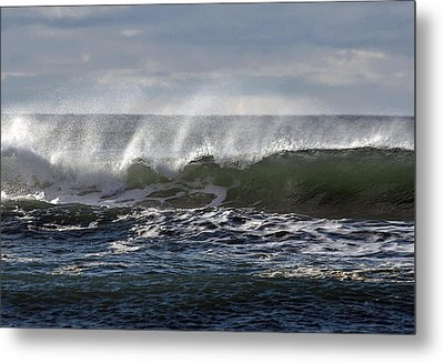 Wave With Wind Metal Print by Michael Bruce