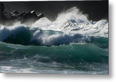 Waves Metal Print by Barbara Walsh