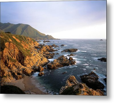 Waves Breaking On Garrapata Beach Metal Print by Panoramic Images