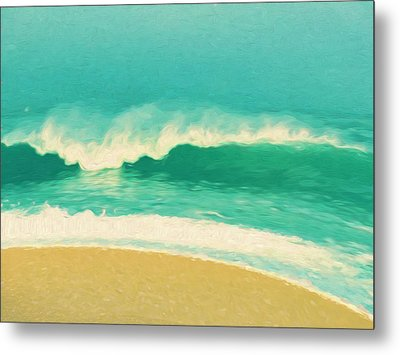Metal Print featuring the painting Waves by Douglas MooreZart