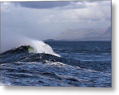 Waves In Easkey 2 Metal Print by Tony Reddington