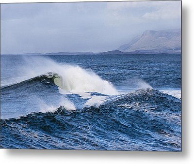 Waves In Easkey 4 Metal Print by Tony Reddington