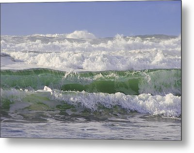 Waves In The Sun Metal Print by Adria Trail