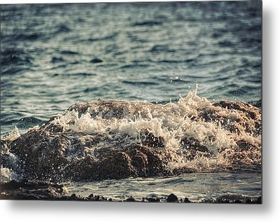 Waves In Time IIi Metal Print by Taylan Apukovska