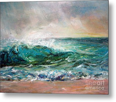 Metal Print featuring the painting Waves by Jieming Wang