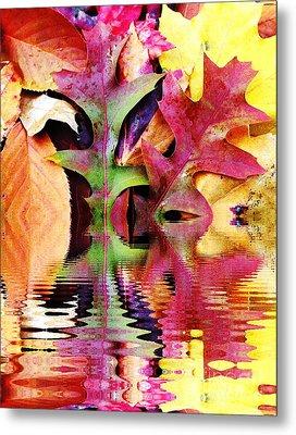 Waves Of Color Metal Print by Judy Palkimas