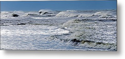 Waves Off Sandfiddler Rd Corolla Nc Metal Print
