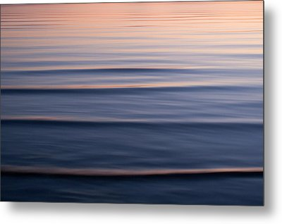Waves On The Great Salt Lake Metal Print by Phil Schermeister