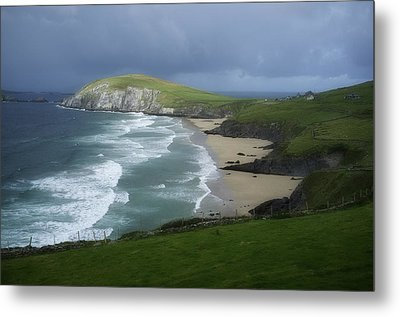 Waves Ring Of Dingle Metal Print by Hugh Smith