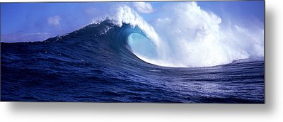 Waves Splashing In The Sea, Maui Metal Print by Panoramic Images