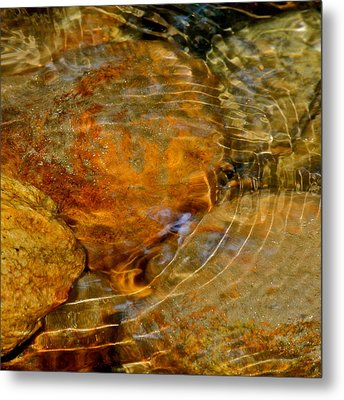 Wavy Water On Colorful Rocks Metal Print