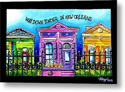 Way Down Yonder In New Orleans Metal Print by Terry J Marks Sr