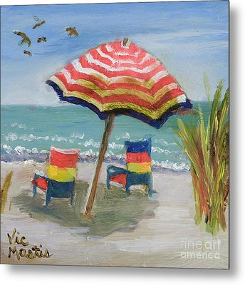 Metal Print featuring the painting Way To Go by Vic  Mastis