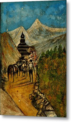 Way To God At Himalayas Metal Print