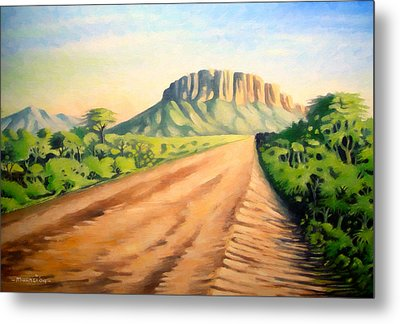Metal Print featuring the painting Way To Maralal by Anthony Mwangi