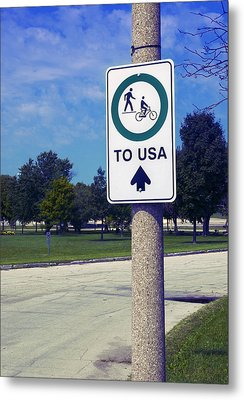 Way To The Usa Metal Print