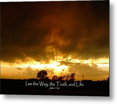 Way Truth Life Metal Print by Robyn Stacey