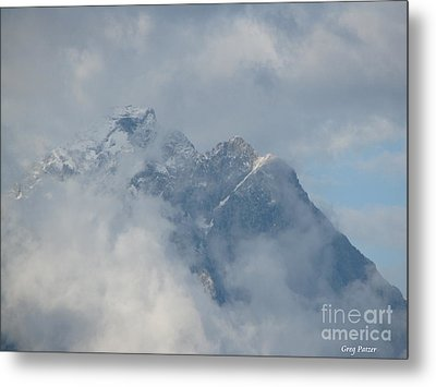 Metal Print featuring the photograph Way Up Here by Greg Patzer