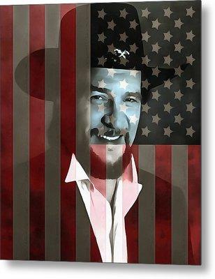 Waylon Jennings American Outlaw Metal Print by Dan Sproul