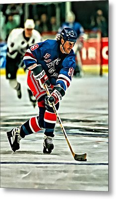 Wayne Gretzky Skating Metal Print